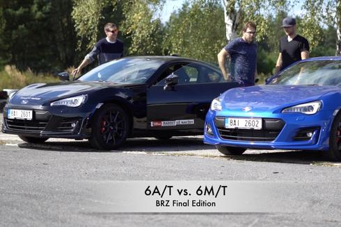 Subaru BRZ Final Edition – 6A/T automat vs. 6M/T manuál