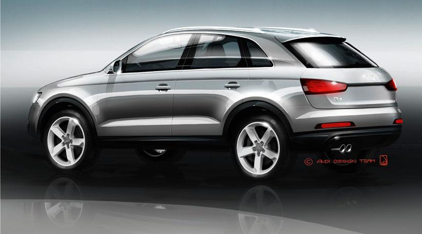Audi Q3 – první skeče zcela nového malého SUV #Automoto